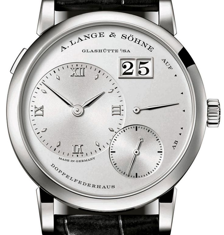 Мужские часы A.Lange and Sohne Lange 1 Platinum Novelty 2015 191.025 - швейцарские часы белые, черные