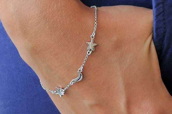Layered bracelet Silver bracelet 925 sterling silver by Wavejewels