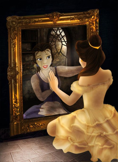 BellePrincesses Belle, Little Girls, Beautiful Beast, Disney Princesses, Quote, Art, The Beast, Mirrors Mirrors, Disney Movie