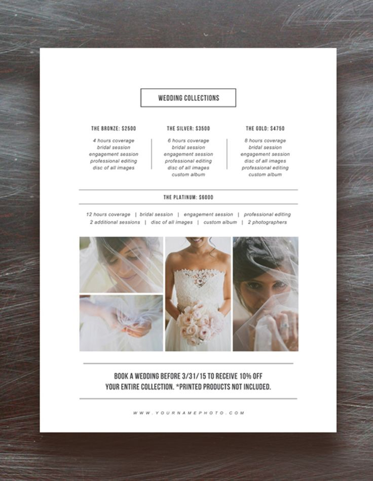 Photographer Pricing Guide Set by Bittersweetdesignboutique on @creativemarket