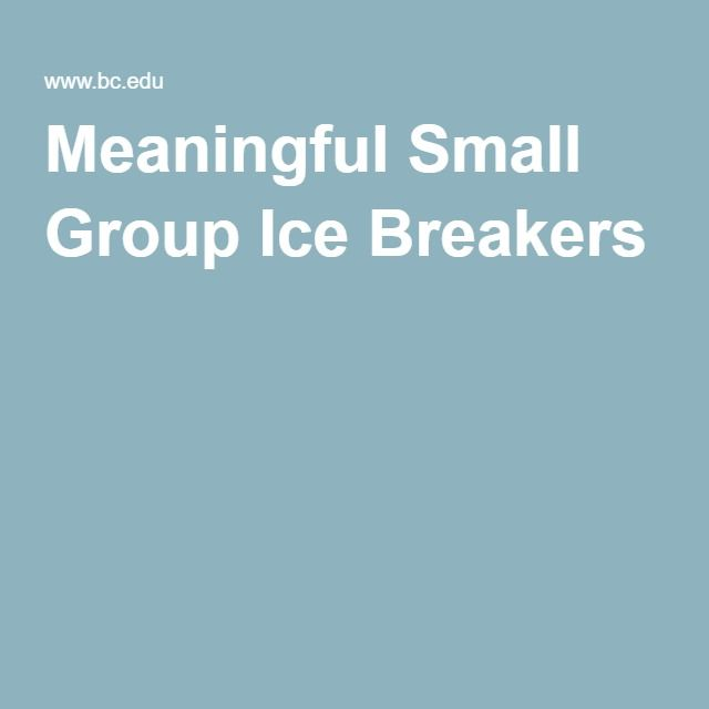 Ice Breakers For Small Group 46