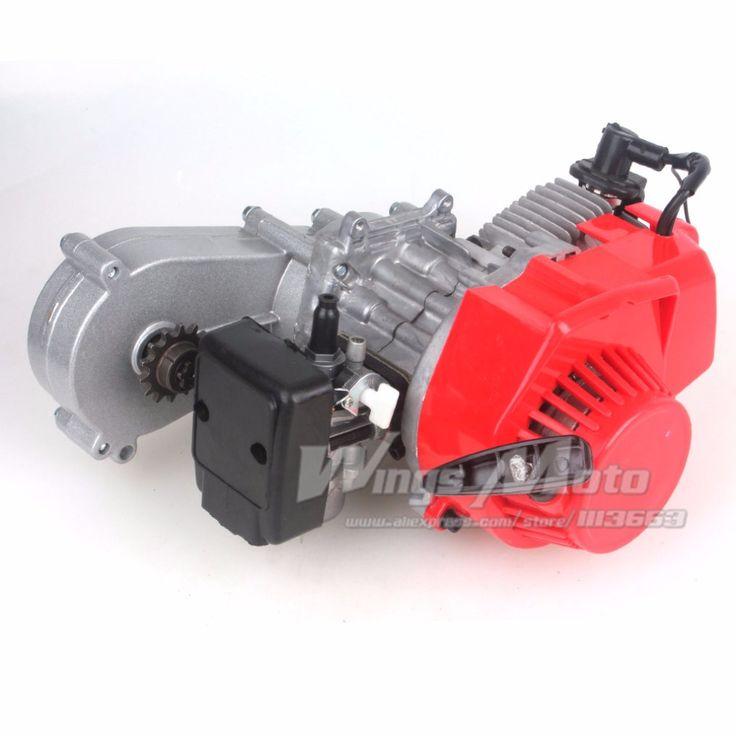 49CC 2 Stroke Motor with T8F 14t Gear Box Easy to Start Pocket Bike Mini Dirt Bike Engine DIY Engine #Affiliate
