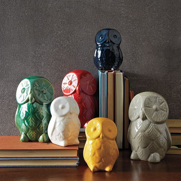 St. Jude® Ceramic Owls | west elm For each of these colorful