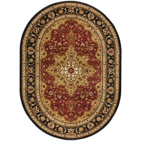 Bliss Rugs Fredes Traditional Area Rug, Red