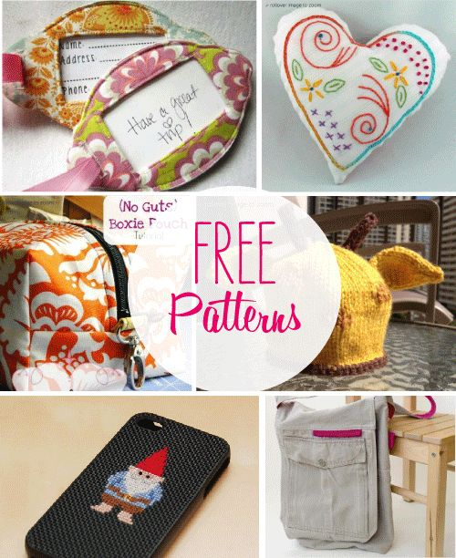 #free #patterns #sewing #knitting #embroidery #crochet