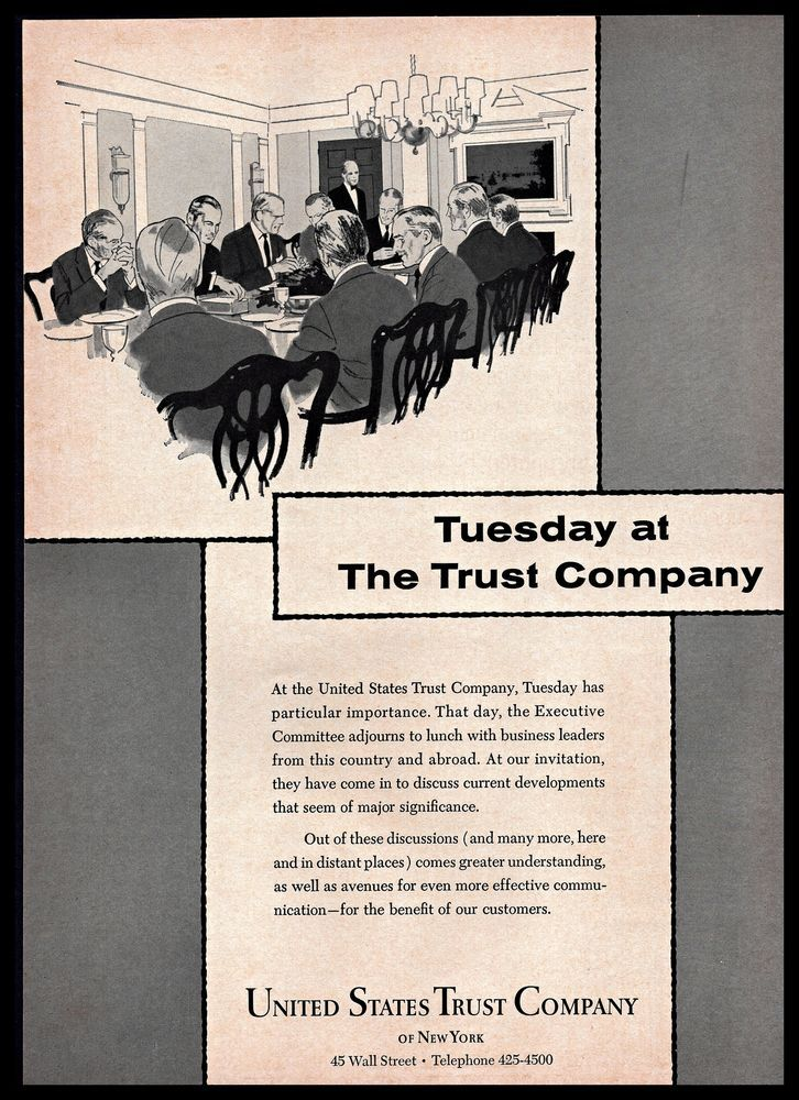 1965 United States Trustcompany Of New York Tuesday Meeting