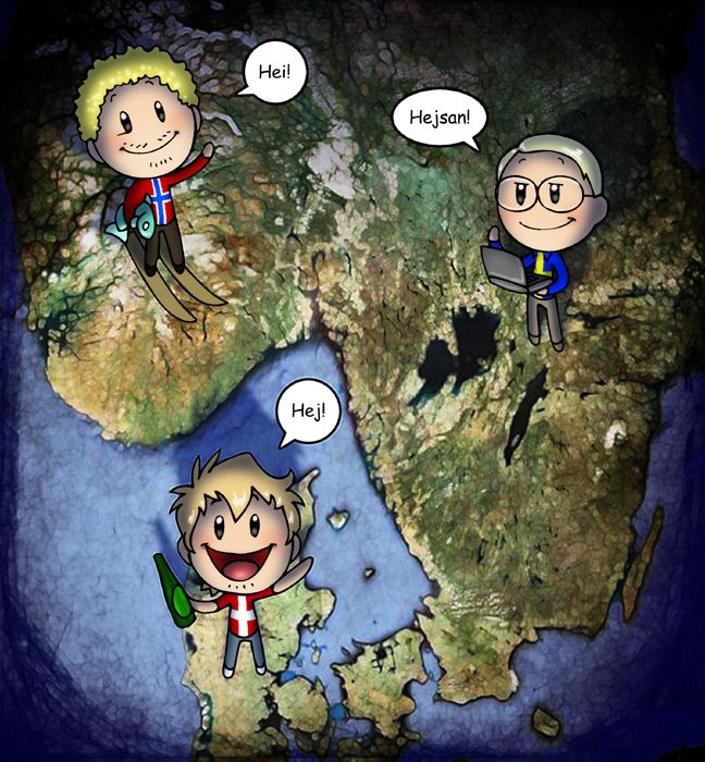 Scandinavia and the World -- great comic out of Denmark