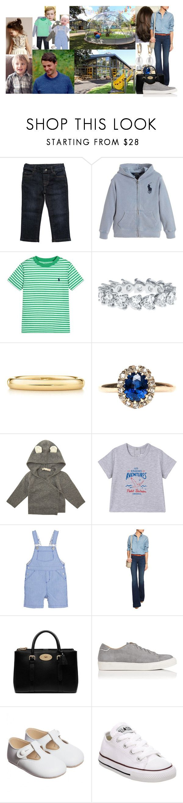 """""""Taking the kids including Jamie and Cecilia to The Yard in Edinburgh for the day"""" by lady-maud ❤ liked on Polyvore featuring Gucci, Annoushka, Elsa Peretti, Petit Bateau, J Brand, Mulberry and Converse"""