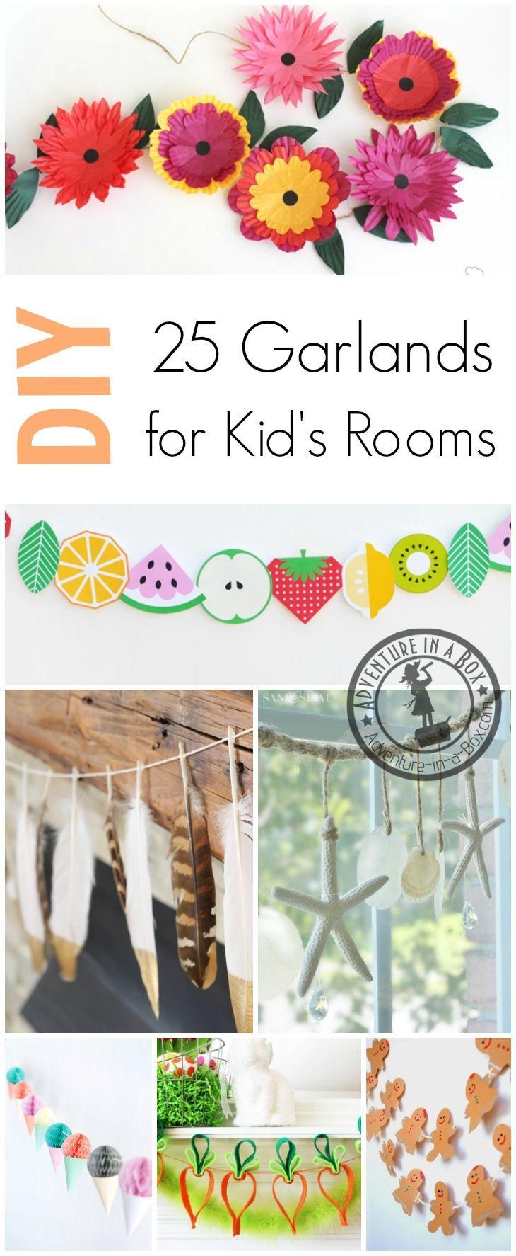DIY Seasonal Garlands to Decorate Kid's Rooms: Beautiful handmade garlands to celebrate winter, spring, summer and autumn!