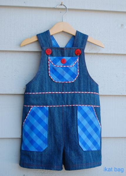 Boys Shortalls Tutorial & Free Pattern by ikat bag