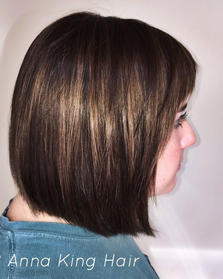 """Anna King Cosmetologist on Instagram: """"A natural brunette is lucky to be born with hair that shines. You can further enhance your color by getting very fine highlights and…"""""""