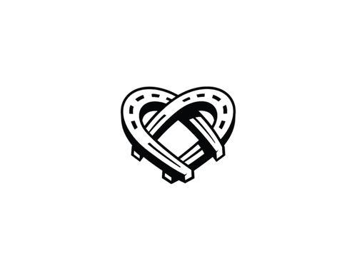 Horseshoe heart. Clip art