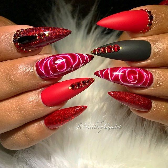 38 Best Red Passion Nail Designs Images On Pinterest
