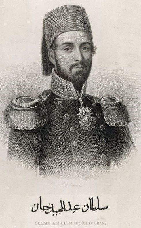 The Ottoman sultan Abdülmecid (1823-1861); he reigned from 1839 to 1861.