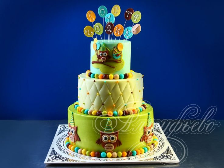 торт с совой для мальчика - Поиск в Google