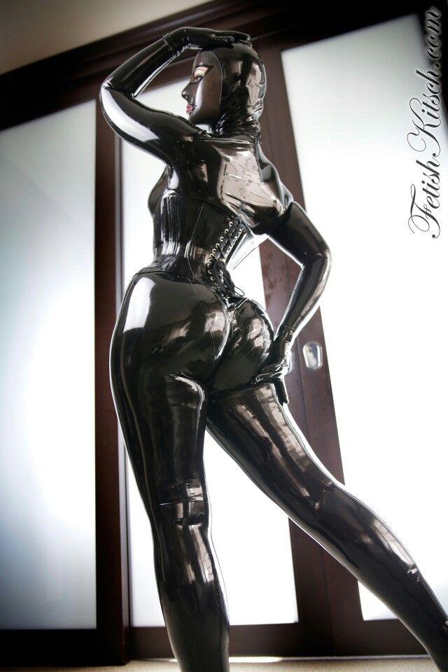 Black rubber latex bootie sox