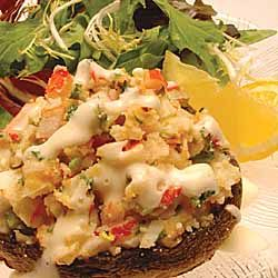 Seafood Stuffed Portabella Mushrooms
