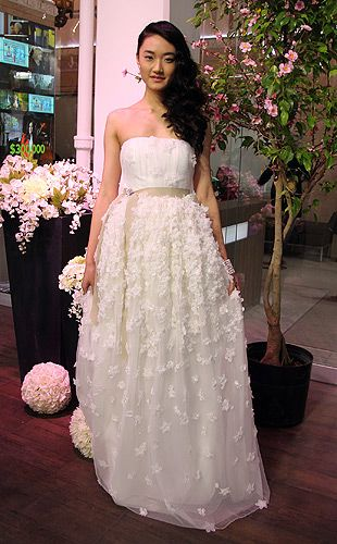This David Dixon gown from Kleinfeld is a great example of gorgeous applique's