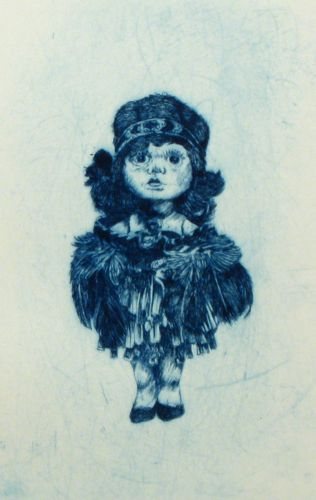 Graham Hall, Prussian Blue, Drypoint Etching on 390 x 270 mm paper, from an edition of 10, 2010.
