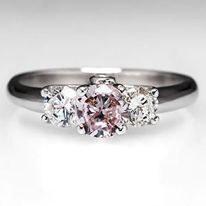 GIA Fancy Pink Diamond Engagement Ring in Platinum