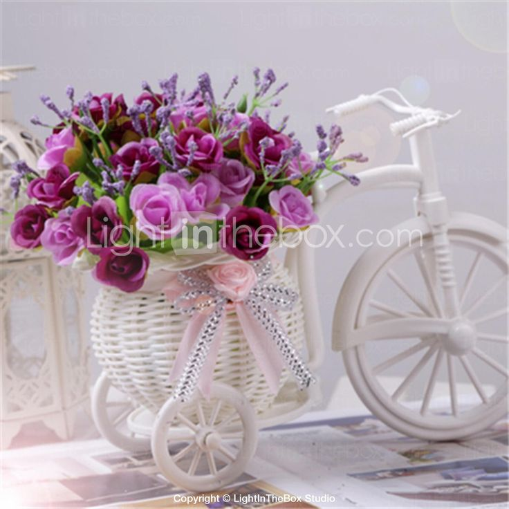 582 best weddings ceremony images on pinterest wedding wedding decoration artificial 45 heads diamond rose bicycle flowers plasticsilk aud 1429 junglespirit Images
