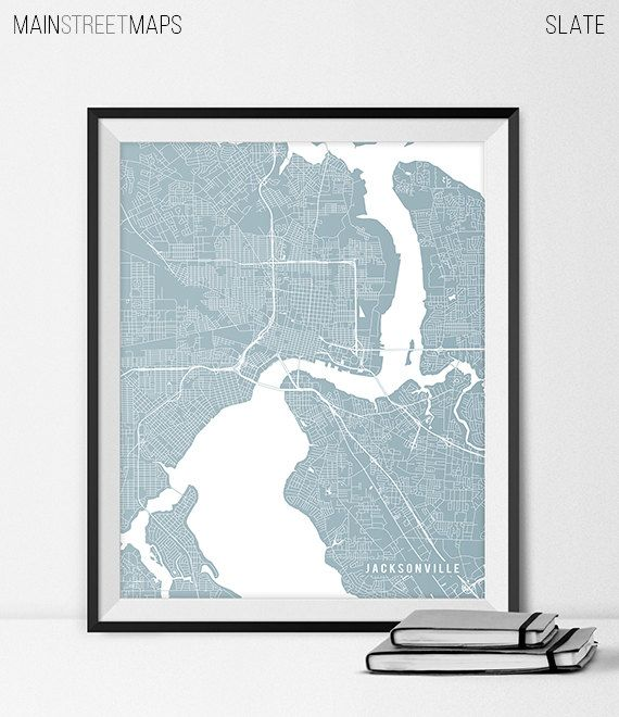 Jacksonville Map Art Print Jacksonville City Map by MainStreetMaps https://www.etsy.com/listing/226645058/jacksonville-map-art-print-jacksonville?ref=shop_home_active_21
