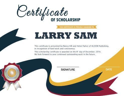 Modern Scholarship Certificate Template Fonts Certificate
