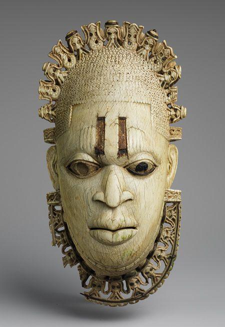 Queen Mother Pendant Mask, Iyoba, 16th century, Nigeria.