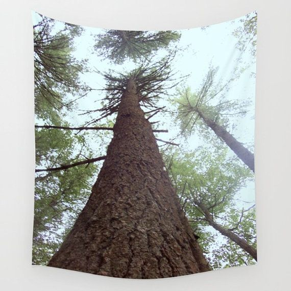 Pine Tree Wall Tapestry forest tapestry tree tapestry by lake1221