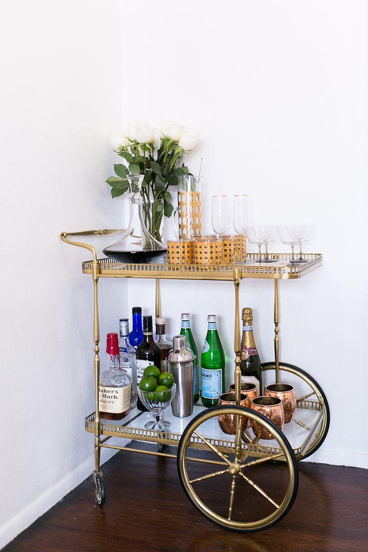 Fall Dining Room Re Do Bar Cart