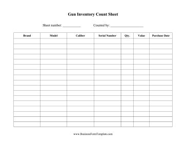 Gun Owners And Shops Can Use This Firearms Inventory Sheet