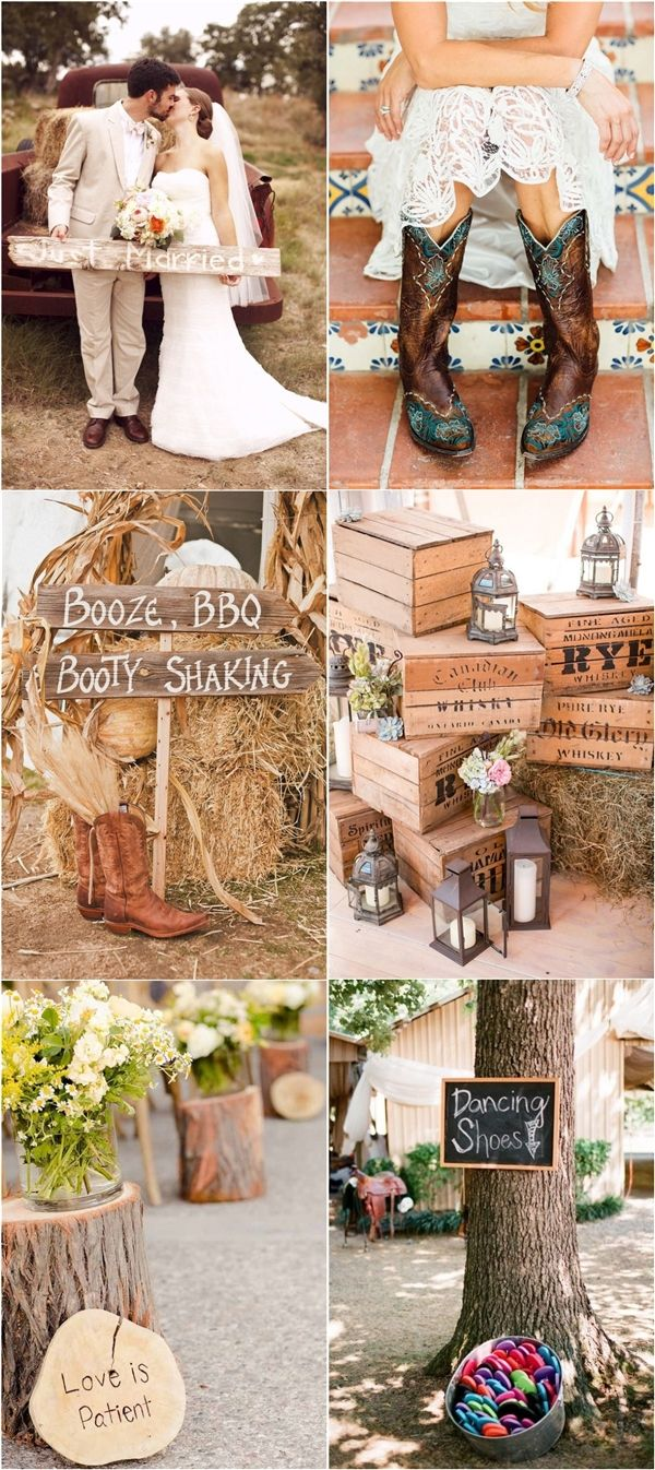 Rustic Country Wedding Ideas & Themes / http://www.deerpearlflowers.com/perfect-rustic-wedding-ideas/