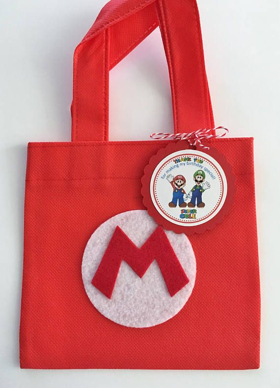 Conjunto de 12 bolsas de Super Mario Bros Favor con