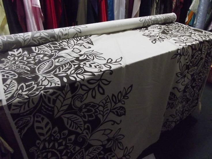 Antique Fabric & Lace Onehunga - Cotton 100% - Brown and Cream with Metallic Silver Highlights