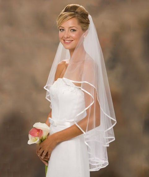 US $2.70 White And Ivory Ribbon Edge Two-Layer Bridal Veil View Now: http://weddirect.co/products/white-and-ivory-ribbon-edge-two-layer-bridal-veil/