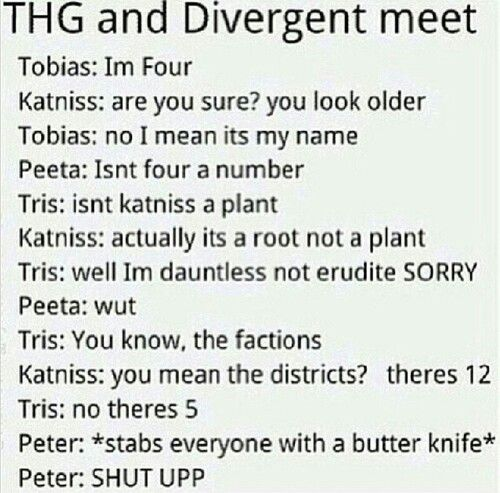 Divergent vs The Hunger Games♡
