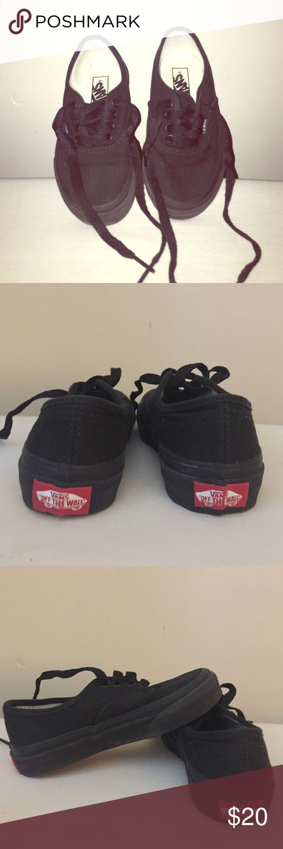 Like new Vans for kids All black vans for boy, size 10.5. Used only once! Excellent condition! Vans Shoes Sneakers
