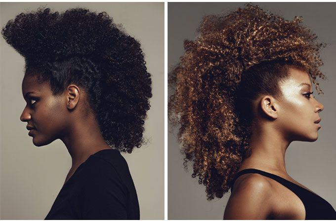 coiffure afro crête iroquoise hairstyle Cheveux afro