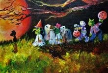 """By the Light of the Halloween Moon"""" 10x20 2016,  SOLD"""