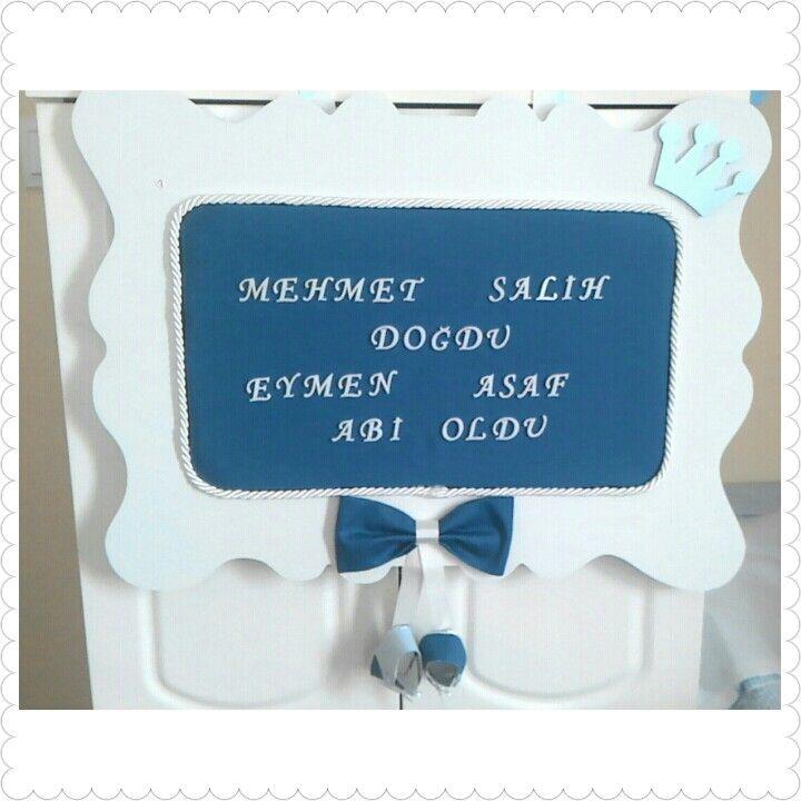 Kapı Süsü & Baby Shower Gifts & Baby Hospital Door Hanger