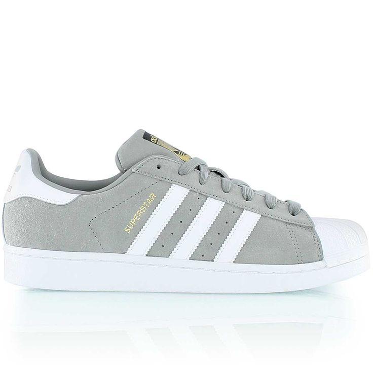 adidas SUPERSTAR SUEDE gris argenté/blanc/gris argenté   Adidas ...