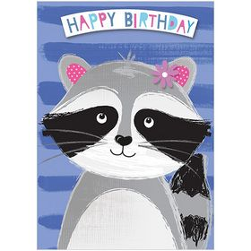 A281 Raccoon birthdaywww.gailscards.com.au