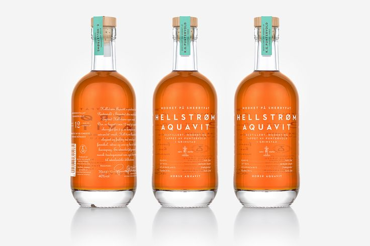 Hellstrøm Aquavit Packaging by OlssønBarbieri  http://mindsparklemag.com/design/hellstroem-aquavit-packaging/