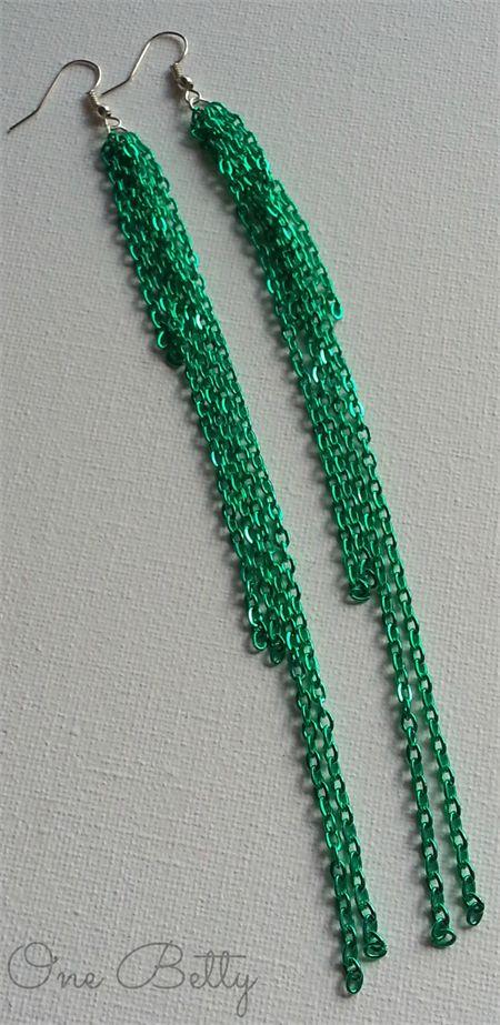 Cascade Earrings (Emerald Green) #onebetty