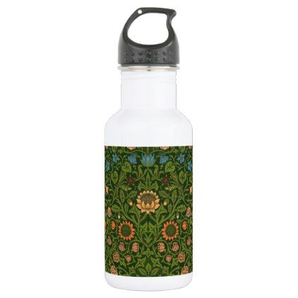 #William Morris Tapestry Rug Red Green Carpet Asian Water Bottle - #drinkware #cool #special