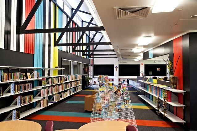 st annes catholic primary school administration and library refurbishment bold architecture interior design interiors libraries pinterest