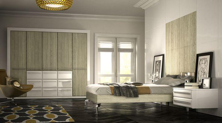 Wardrobe Magic - Valencia Sonoma Oak and White Gloss Bedroom