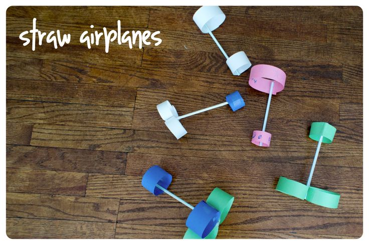 Activities For Kids - Straw airplanes - Peapod Labs