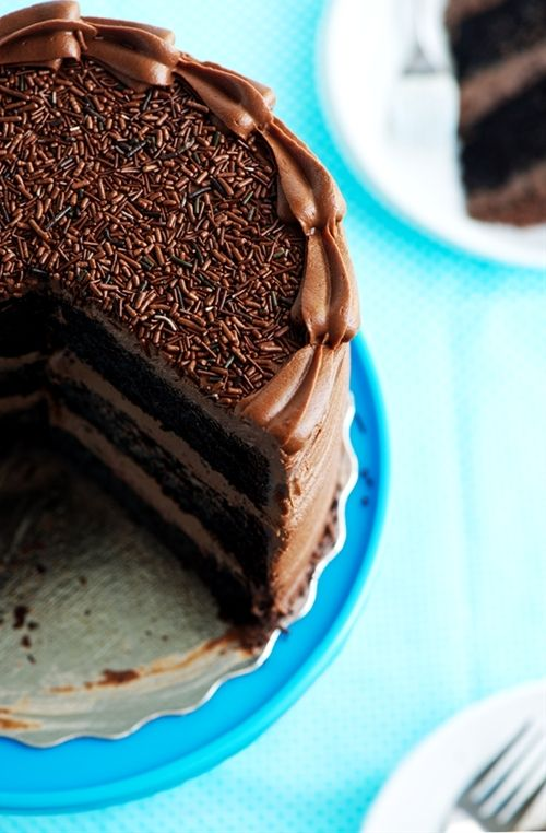 For the chocolate lovers in the family - Chocolate & Nutella Layer Cake