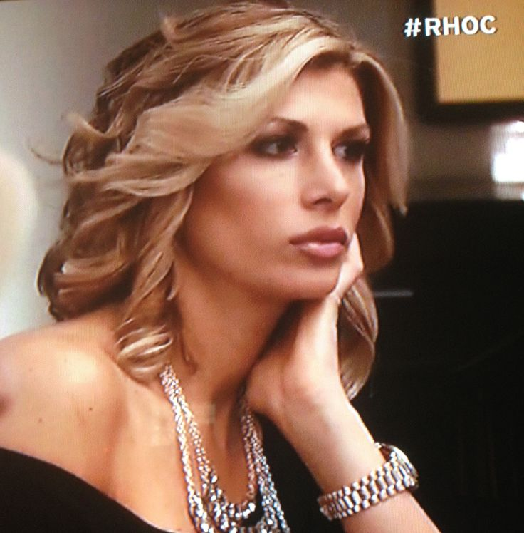 RHOOC- Alexis Bellino new bob haircut, cute!